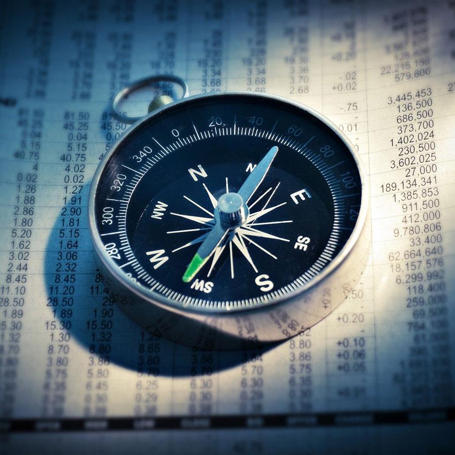 Kompass als Starthilfe